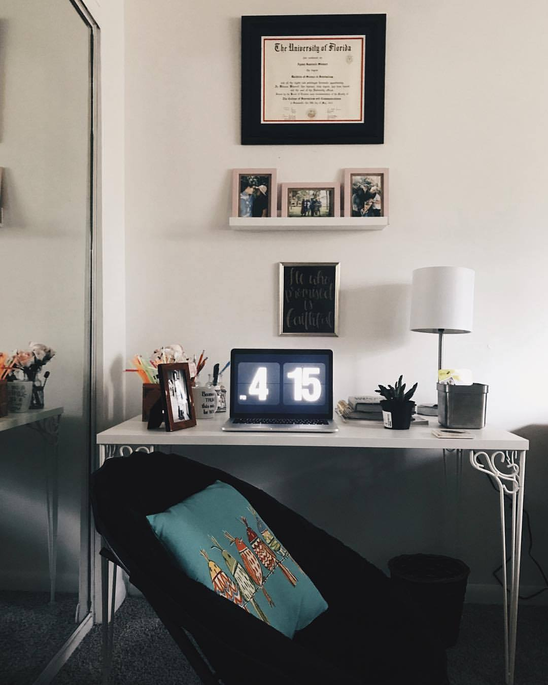 home office with the pros and cons of working from home