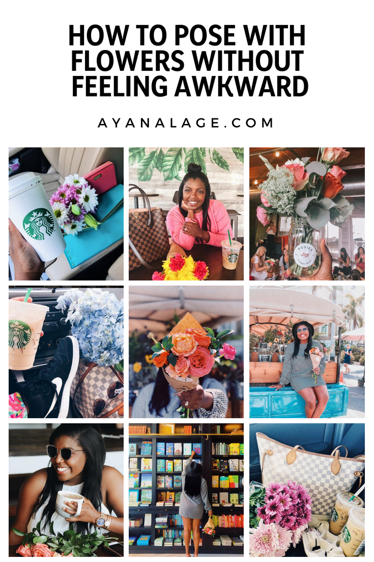 how to pose with flowers without feeling ridiculous xo ayana