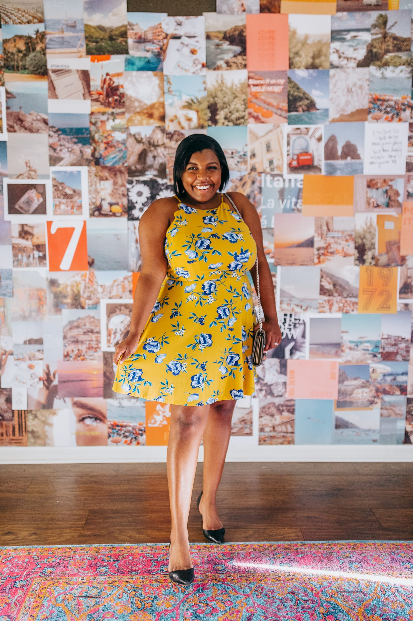tampa blogger ayana lage wearing a plus size halter dress from stitch fix