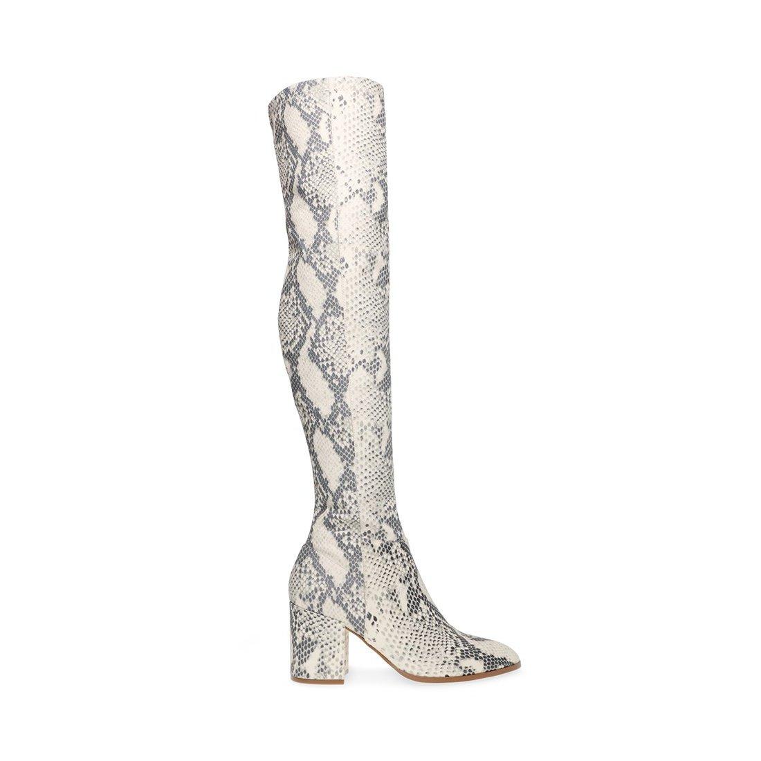 Steve Madden Jacey Natural Snake Boots