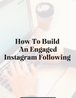 """a man sits at a computer typing with text overlaid that says, """"How to build an engaged Instagram following"""""""