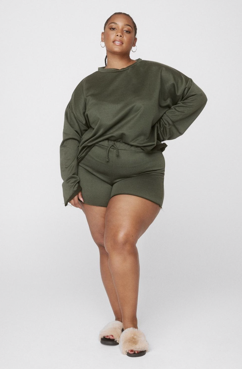 Nasty Gal Our Day to Day Plus Shorts Lounge Set