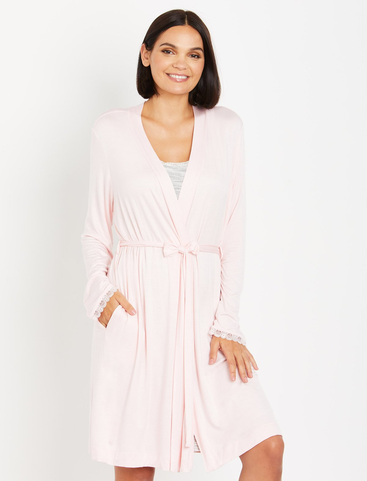 What To Wear After Giving Birth   Motherhood Maternity Lace Trip Sleep Nursing and Maternity Robe