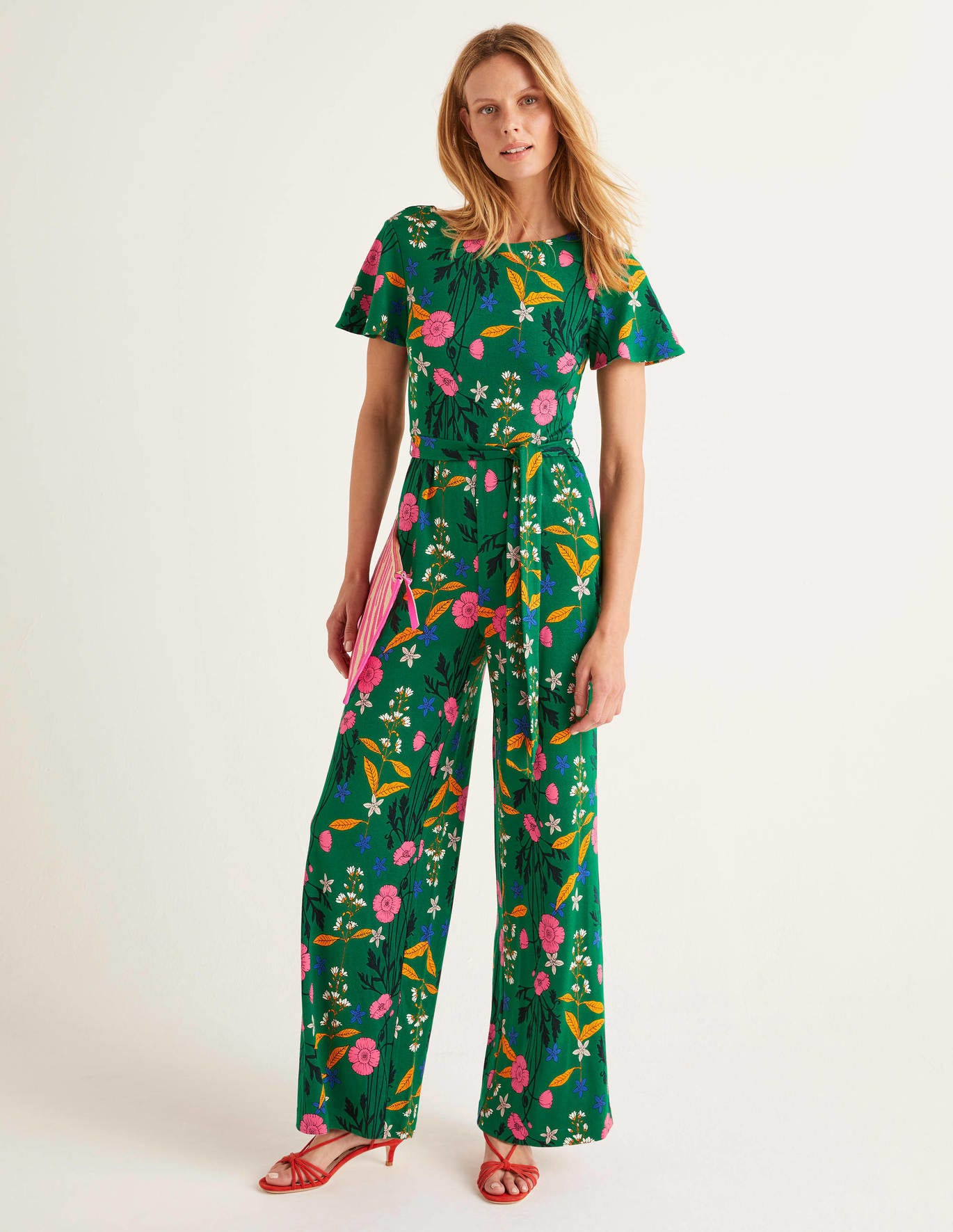 Boden Camille Ponte Jumpsuit - Forest, Garden Charm | How To Style A Jumpsuit