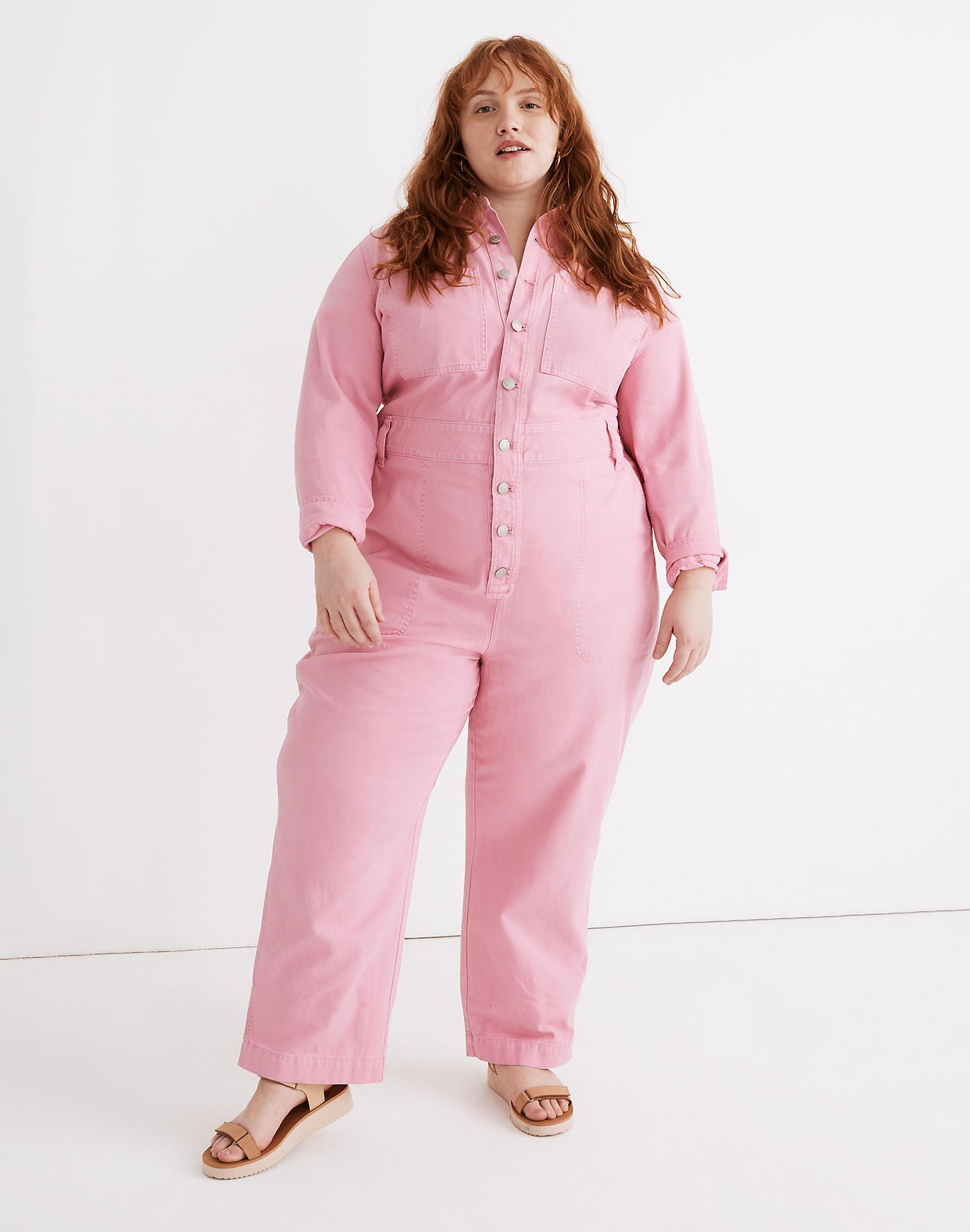 Garment-Dyed Relaxed Coverall Jumpsuit Madewell