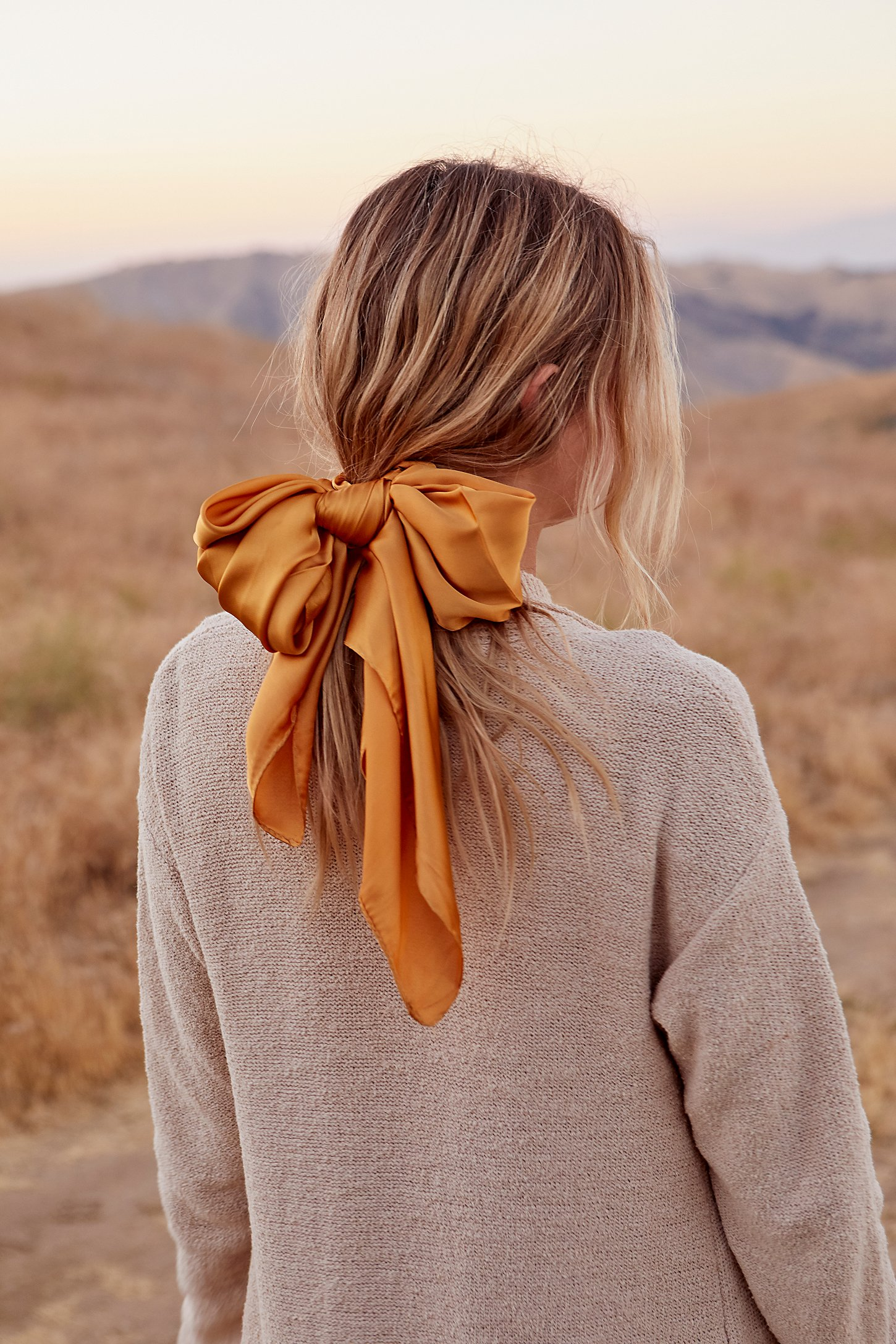 free people oversized bow pony scarf